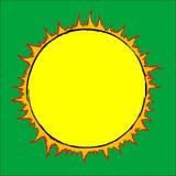 Gezogene Sonne stockfotografie
