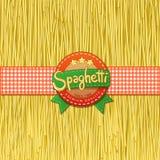 Gezogene Spaghettis und Aufkleber für sie Stockbilder