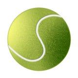 Gezogene Tenniskugel getrennt Stockbild