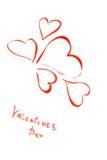 Gezogenes glückliches Valentinsgruß-Inneres Lizenzfreie Stockbilder