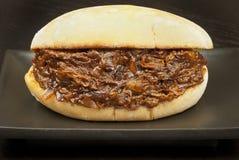 Gezogenes Schweinefleisch-Sandwich Stockbilder