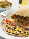 Gezogenes Schweinefleisch und Barbecue-Soße Lizenzfreies Stockfoto