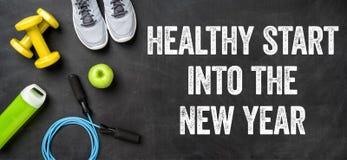 Gezond begin in het nieuwe jaar Stock Afbeeldingen
