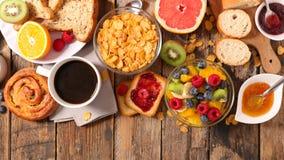 Gezond continentaal ontbijt royalty-vrije stock fotografie