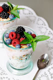 Gezond dessert stock afbeeldingen
