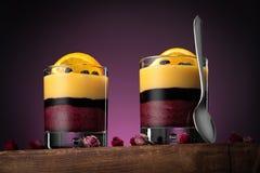 Gezond dessert low-calorie fruitproduct royalty-vrije stock foto