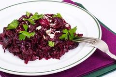 Gezond dieet Salade met bieten stock foto's
