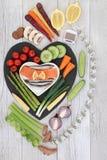 Gezond dieetvoedsel royalty-vrije stock afbeeldingen