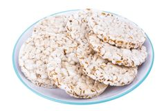 Gezond dieetvoedsel Whole-wheat koekjes stock afbeelding