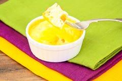 Gezond en Dieetvoedsel: Roereieren Stock Foto