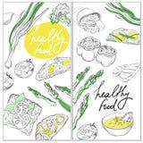 Gezond en Hartelijk Voedsel Het organische malplaatje van de restaurantbanner stock illustratie