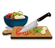 Gezond en heerlijk voedsel vector illustratie