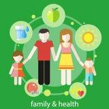 Gezond familieconcept vector illustratie