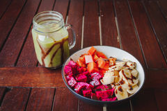 Gezond fruitontbijt stock foto