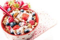 Gezond graangewassenontbijt Stock Afbeelding