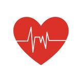 Gezond hartsymbool geïsoleerd pictogram stock illustratie
