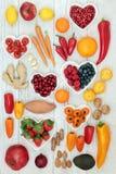 Gezond hartvoedsel royalty-vrije stock afbeeldingen