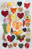 Gezond Hartvoedsel en Geneeskrachtige Kruiden stock afbeeldingen
