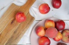 Gezond het eten perzikenvoedsel, Stock Afbeelding
