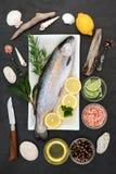 Gezond het Hartvoedsel van de regenboogforel Stock Foto's