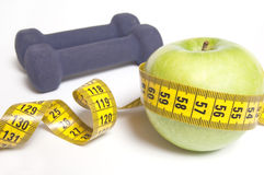 Gezond het levensconcept - voeding en het uitoefenen Royalty-vrije Stock Afbeelding