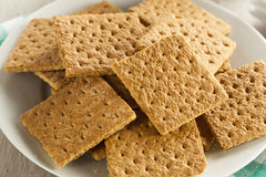 Gezond Honey Graham Crackers royalty-vrije stock foto's