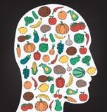 Gezond levensstijlconcept Wij zijn wat wij eten Vector Stock Fotografie