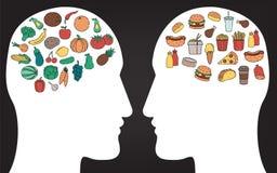 Gezond levensstijlconcept Wij zijn wat wij eten Vector Royalty-vrije Stock Afbeelding