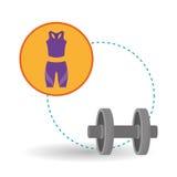 Gezond levensstijlontwerp, geschiktheid en bodybuilding concept Stock Afbeeldingen
