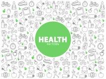 Gezond levensstijlpatroon stock illustratie
