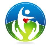 Gezond menselijk en gezond hart Stock Afbeelding