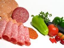 Gezond of ongezond voedsel Stock Afbeelding