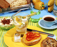 Gezond ontbijt Stock Afbeelding