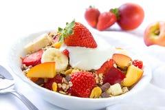Gezond ontbijt met graangewassen Royalty-vrije Stock Foto's