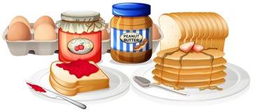 Gezond ontbijt op witte achtergrond vector illustratie