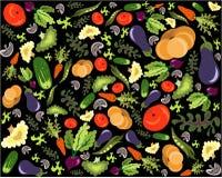 Gezond plantaardig patroon Stock Afbeelding