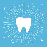 Gezond tandpictogram Ronde lijncirkel Mondelinge tandhygiëne De zorg van kinderentanden Royalty-vrije Stock Foto's