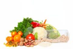 Gezond vegetarisch dieet Stock Foto's