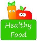 Gezond voedsel stock illustratie