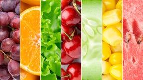 Gezond voedsel backgroun Stock Afbeelding