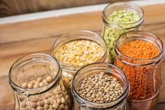 Gezond voedsel, dieet, voedingsconcept, veganistproteïne royalty-vrije stock foto's