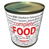 Gezond voedsel en chemie - additieven voor levensmiddelen Stock Afbeeldingen