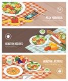Gezond voedsel en dieet stock illustratie