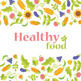 Gezond voedsel in formaat Stock Fotografie