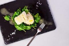 Gezond Voedsel, gestoomde vissen royalty-vrije stock fotografie
