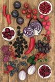 Gezond Voedsel Hoog in Anthocyanins Royalty-vrije Stock Foto's