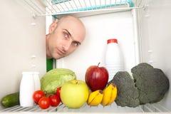 Gezond voedsel in koelkast Royalty-vrije Stock Foto's