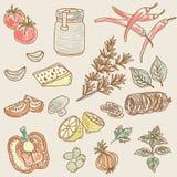 Gezond voedsel naadloos patroon Stock Afbeeldingen