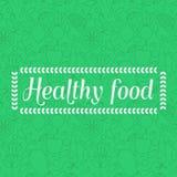 Gezond voedsel - naadloze patroonachtergrond met fruit lineaire pictogrammen stock illustratie