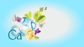 Gezond voedsel Natuurlijke biologische producten zuivelfabriek royalty-vrije illustratie
